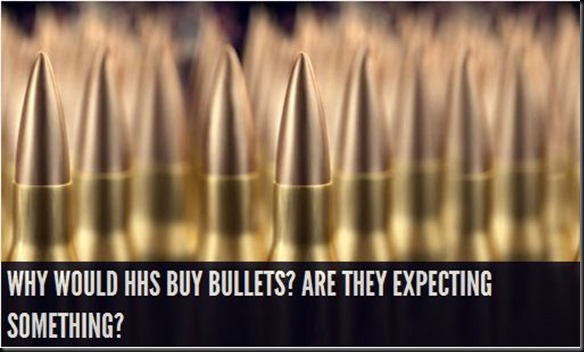 a bullet for each american person purchased by FEMA-HLS
