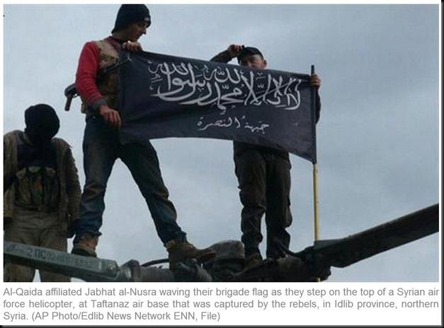 Al Nusra's Al Qaida Flag