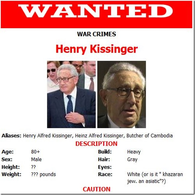 War Criminal Kissinger